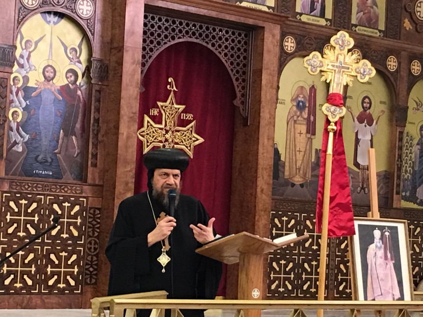 His Eminence at St Pope Kerolos VI Church